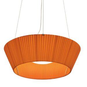 Reverse Upwards Pendant Light - Orange